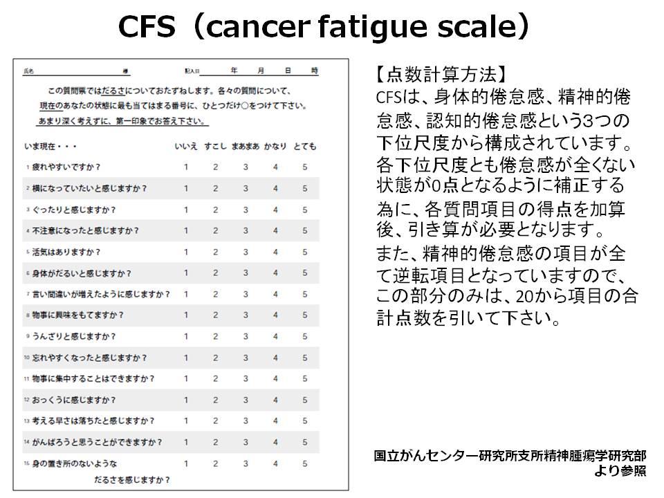 CFS(cancer fatigue scale)