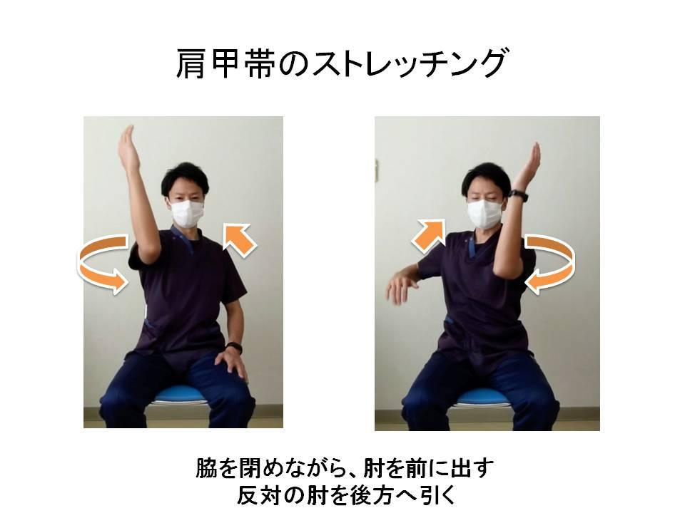 肩甲帯の可動域練習