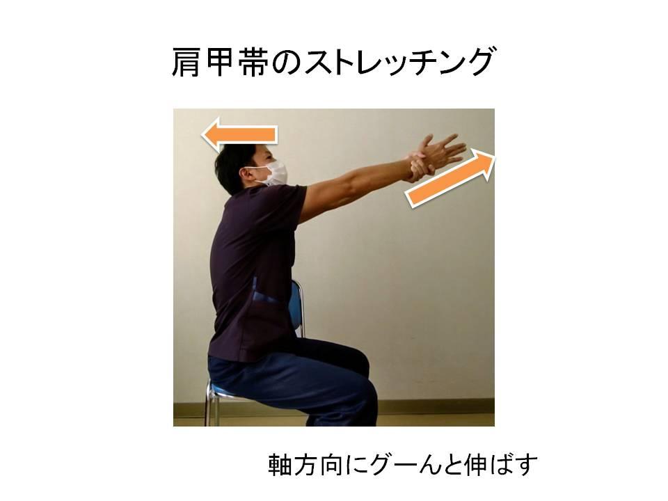 肩甲帯のストレッチング・徒手